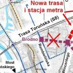 Białołęka miesza przy trasie drugiej linii metra