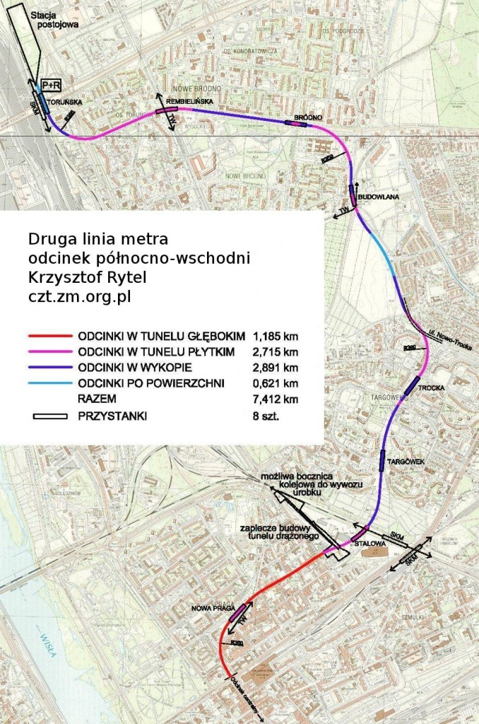 Trasa proponowana przez Zielone Mazowsze