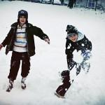 Zima w mieście (na Targówku)