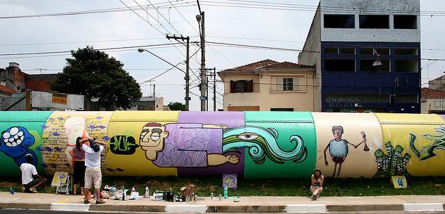 Piękne rury mają już w Sao Paulo w Brazylii. Autorem prac jest XguiX / fot. Flickr