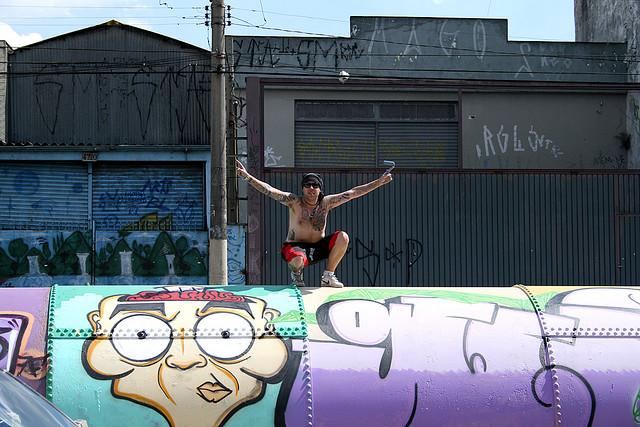 Graffiti na rurach w Saou Paulo / fot. Xguix