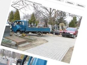 Wypadek na cmentarzu: kobieta przygnieciona nagrobkiem