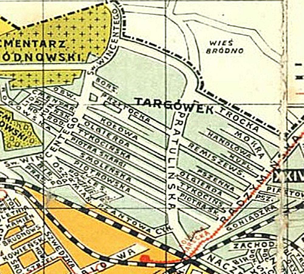 Targówek na planie z 1924 r.