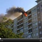 Pożar na Chodeckiej [wideo]