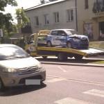 Trzy samochody zniszczone w wypadku na Zaciszu