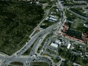 Ul. św. Wincentego przy rondzie Żaba / fot. Google Earth