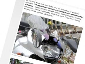 Kolizja motocyklisty na św. Wincentego
