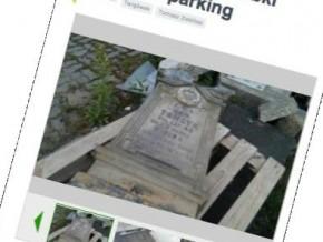 Porzucone nagrobki z Cmentarza Bródnowskiego