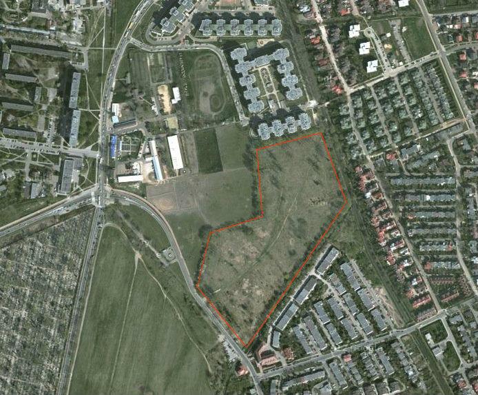 Miejsce, gdzie powstanie wojskowe osiedle / fot. Google Maps