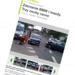 Trzy osoby ranne w wieczornym wypadku na Zabranieckiej
