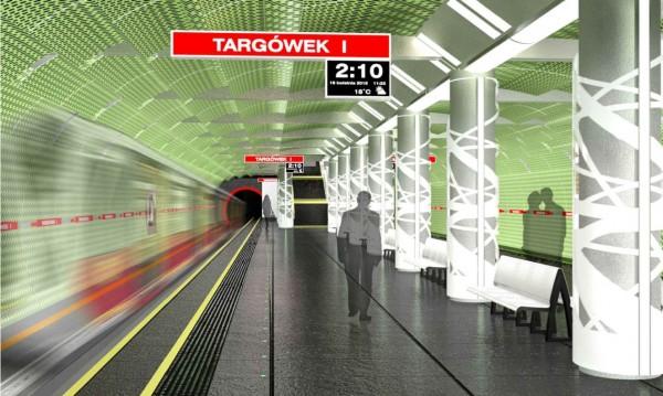 Wizualizacja stacji metra na Targówku