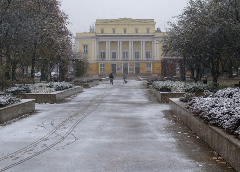 Park Wiecha zimą