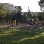 Budują skwer z fontanną nad Kanałkiem