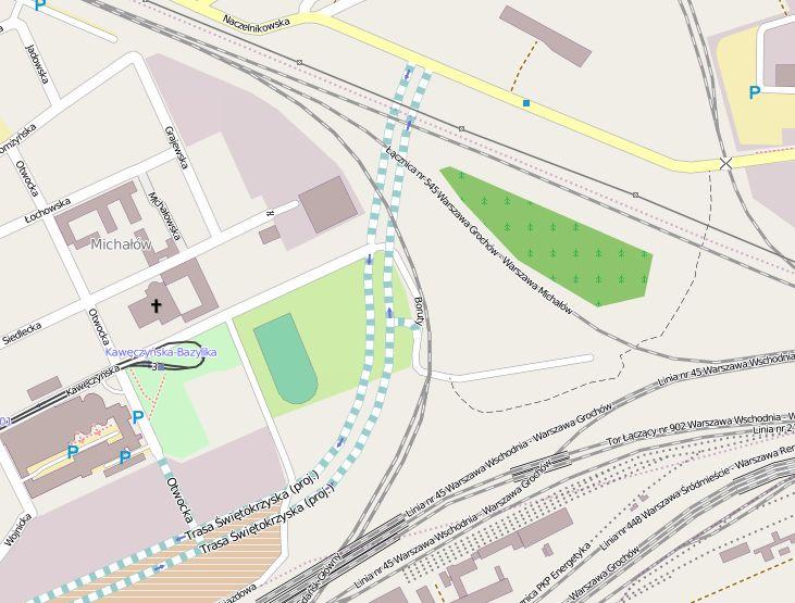 Odcinek od Dworca Wschodniego na Targówek Fabryczny to ledwie kilkaset metrów / Dane mapy © użytkownicy OpenStreetMap, CC BY-SA