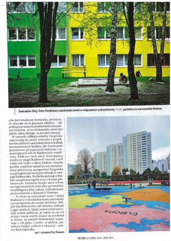 W artykule Polityki znalazło się zdjęcie placu zabaw i bloków przy Parku Bródnowskim