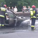 Samochód zapalił się na Kondratowicza