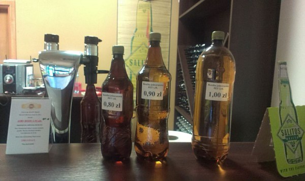 Rozmiary dostępnych butelek