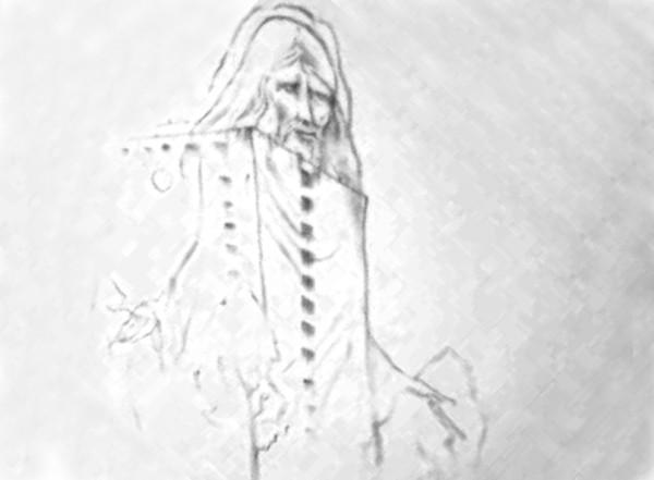 Rysunek Pawła Althamera przedstawiający instalację na bloku przy Chodeckiej 10 / rys. YouTube