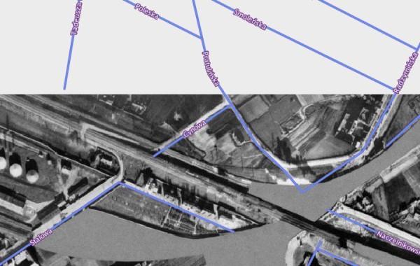 Aż dotąd sięgają zdjęcia lotnicze Warszawy z 1935 roku. Widać na nich przejazd przez tory / fot. Urząd Miasta