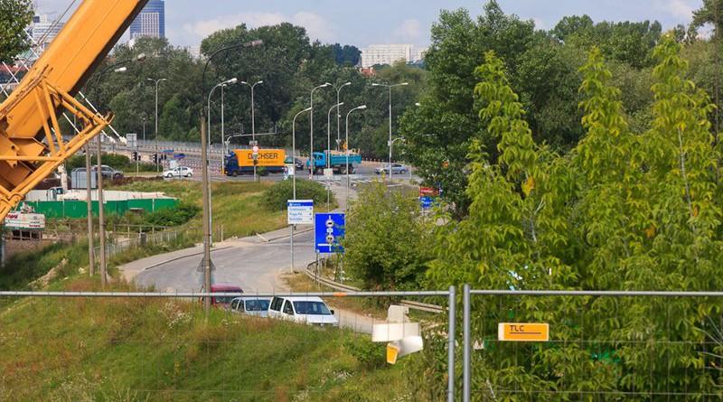Budowa fragmentu Trasy Świętokrzyskiej przy moście Świętokrzyskim / fot. ZMID