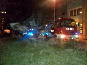Pożar punktu xero i fotografa na Raembielińskiej /fot. JRG 1/Straż Pożarna