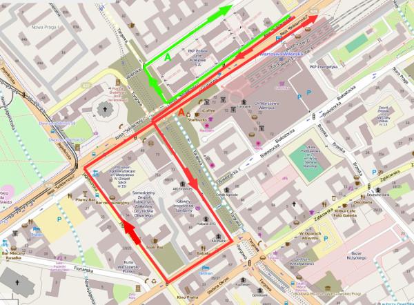 Schemat autobusów po otwarciu centralnego odcinka drugiej linii metra / mapa Open Street Map