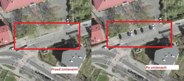 Tak mogłyby wyglądać nowe miejsca parkingowe / rys. od czytelnika