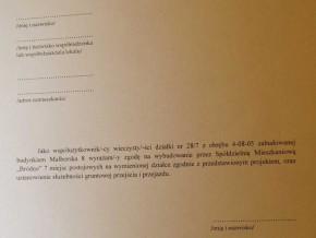 Taką deklarację dostali do wypełnienia mieszkańcy Malborskiej / fot. od czytelnika