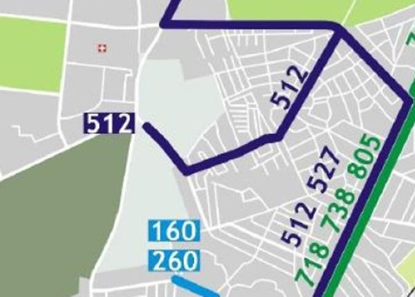 Nowy kraniec 512 będzie przy ul. Gilarskiej? / mat. ZTM