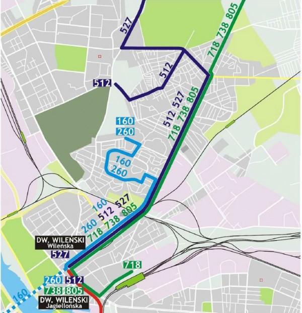 Zmiany autobusów po otwarciu II linii metra /mat. ZTM