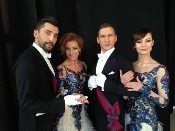 Instruktorzy Egurrola Dance Studio przed programem Dancing with the Stars Taniec z Gwiazdami (Rafał Maserak, Tomasz Barański, Magdalena Soszyńska-Michno, Nina Tyrka)