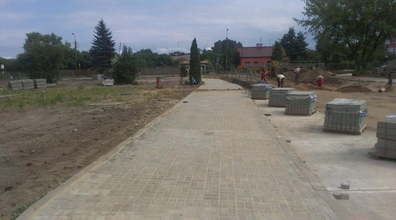 Chodnik jest już gotowy od Zamkowej do Swojeskiej