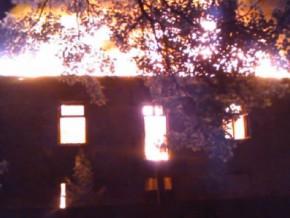 Pożar kamienicy przy św. Hieronima / fot. Facebook