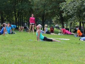Joga w Parku Bródnowskim / fot. Warszawa ćwiczy na FB