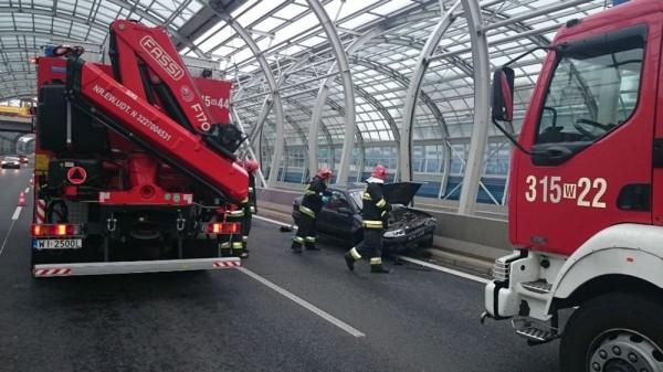 Wypadek na Trasie Toruńskiej z 22 września 2014 r. / fot. Straż Pożarna