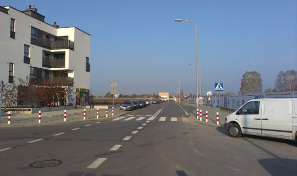 Odcinek od ul. Zamkowej do stacji jest gotowy już od dawna / fot. targowek.info