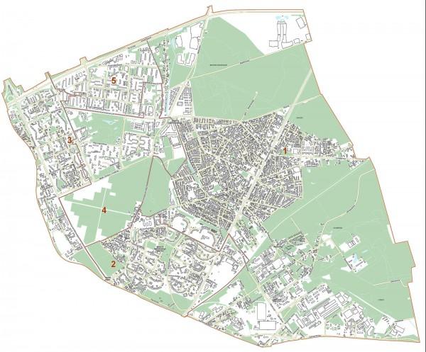 Okręgi wybiorcze na Targówku - wybory samorządowe 2014 / mat. UM