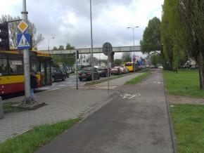 Buspas na Radzymińskiej o godz. 7.30 / fot. od czytelnika