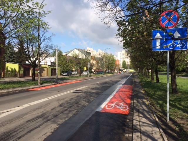 Pas rowerowy na Gorzykowskiej / fot. Miejski Pełnomocnik Rowerowy