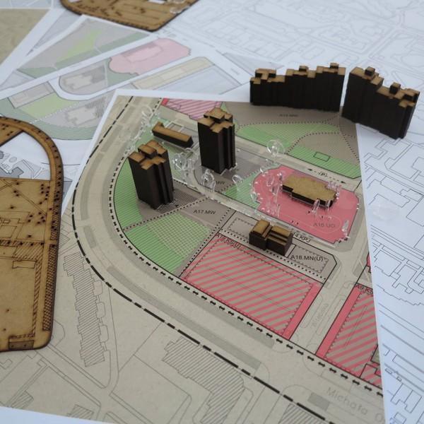 Makieta do konsultacji rejonu Parku Wiecha / zdjęcie Stowarzyszenie Odblokuj na Facebooku