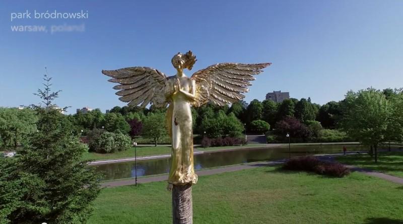 Anioł w Parku Bródnowskim / fot. YouTube