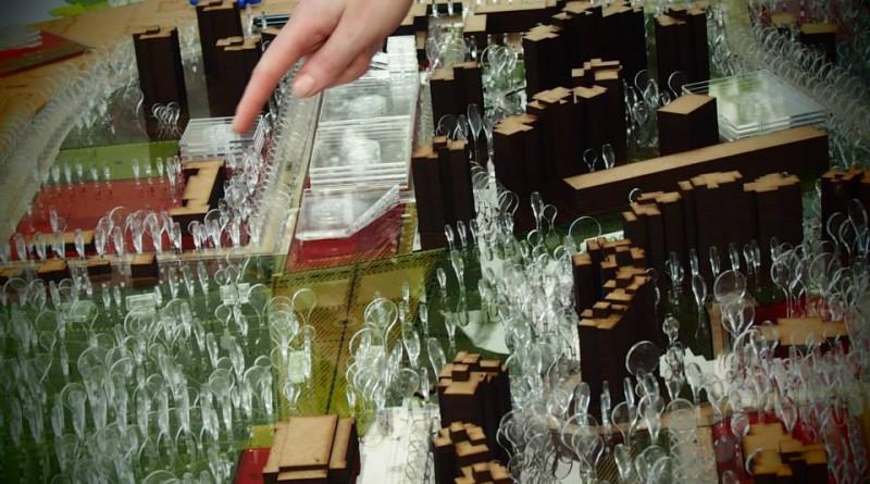 Makieta, na której prezentowano zmiany / fot.  Stowarzyszenie Odblokuj
