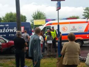 Czwartkowy wypadek rowerzysty na ul. Trockiej / fot. czytelniczka targowek.info