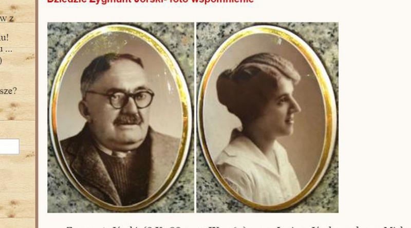 Fragment bloga warszawazacisze.blox.pl z fotografiami Zygmunta i Janiny Jórskich.