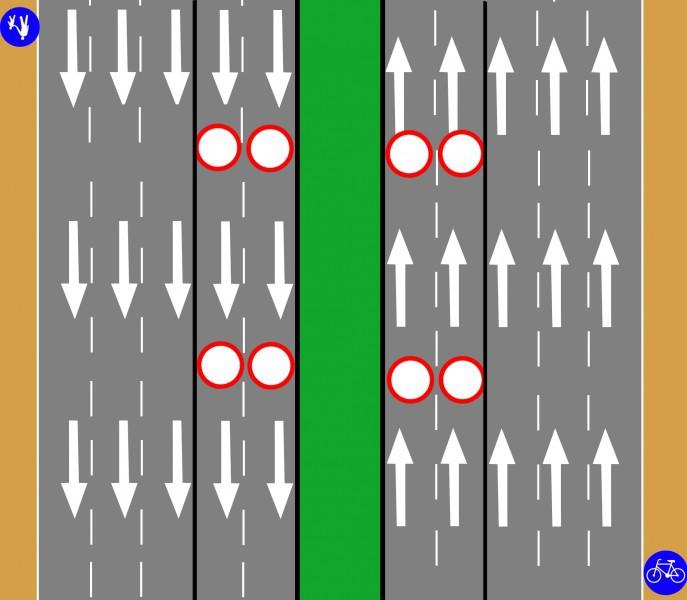 Schemat ruchu na Moście Grota / materiały GDDKiA