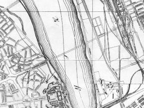 Most Krasińskiego na planie Warszawy z 1935 roku