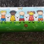 Mural już gotowy. Jednak jest tolerancja dla uchodźców