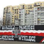 Mural Żołnierzy Wyklętych obok pętli Targówek