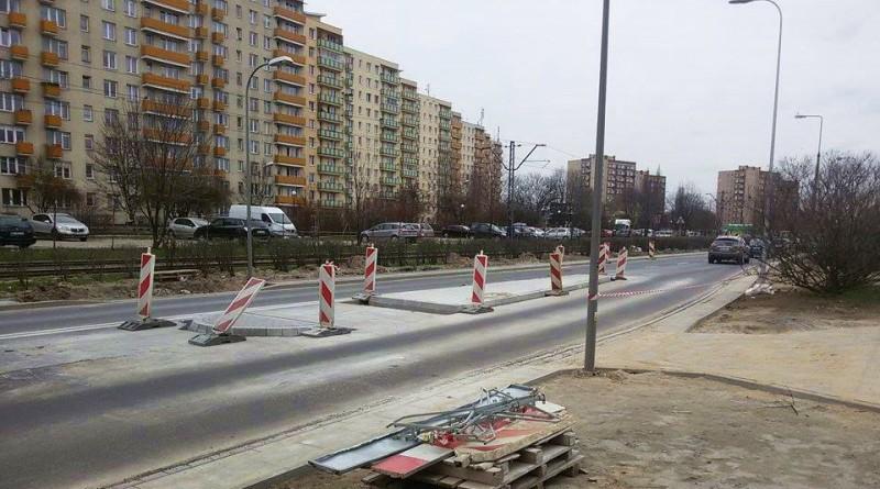 Nowa wysepka na ul. Rembielińskiej /fot. Bartek, czytelnik targowek.info
