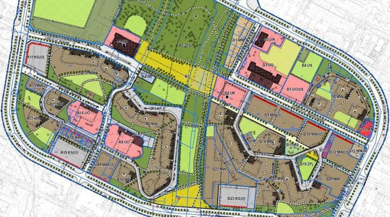 Projekt planu zagospodarowania okolic parku Wiecha